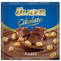 ULKER HAZELNUT CHOCOLATE BARS 65GR