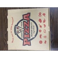 PIZZA BOX 18X18X2 B FLTD KRAFT 50PC