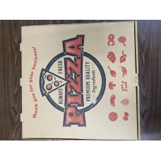 PIZZA BOX 12X12X2 B FLTD KRAFT 50PC